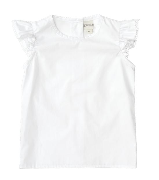 blusa de manga corta lisa