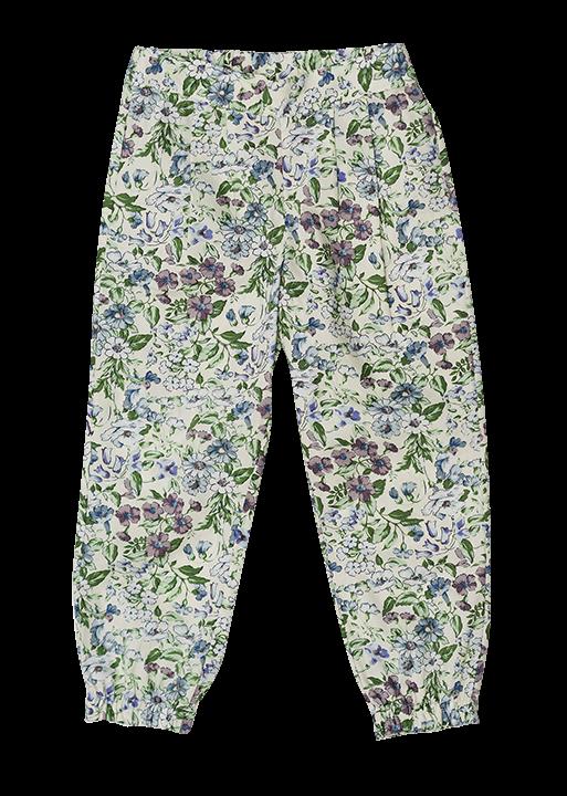 pantalón floreado al tobillo